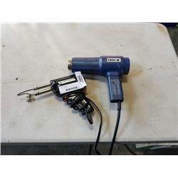 Simpson sears soldering gun with extra tip and 1500 watt heat gun