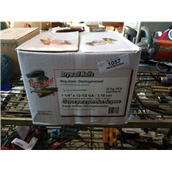 "50LB BOX OF 1-1/4"" NAILS"