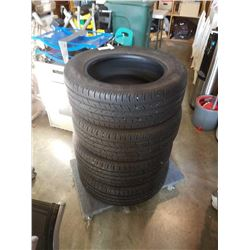 SET OF 4 CONTINENTAL 225/60R17 TIRES