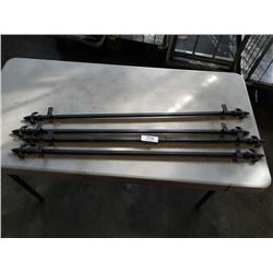 """4 wrought iron 37"""" rod with spear ends"""