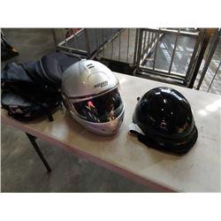2 DOT MOTORCYCLE HELMETS AND SADDLEBAGS