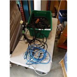 TOTE OF POWER CABLES, EXTENTION CORDS