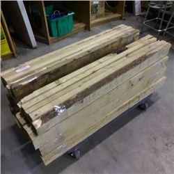 Nine bundles of 44 in lumber