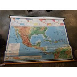 MEXICO CENTRAL AMERICA PULL DOWN SCHOOL MAP