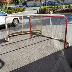 TWO REGULATION HOCKEY NETS WITH 2 IN STEEL TUBING