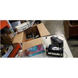 BOX OF RADIOS, STEREO, PHONE