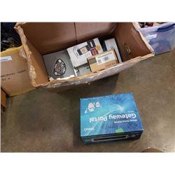 BOX OF ELECTRONICS - WIRELESS PHONE DOCK, SONOS CRADLE 200