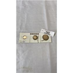 3  1913 CANADIAN COINS - 5 CENT, 25 CENT, 50 CENT