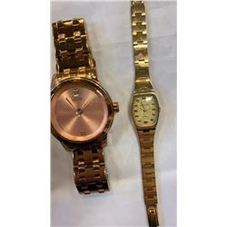 LADIES GUESS ROSE GOLD WATCH AND BAG OF VINTAGE WATCHES