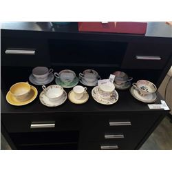 LOT OF CHINA CUPS AND SAUCERS, AYNSLEY, PARAGON,SUSI COOPER AND OTHERS