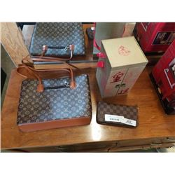 LV COPY PURSE AND WALLET AND EASTERN CONTAINER