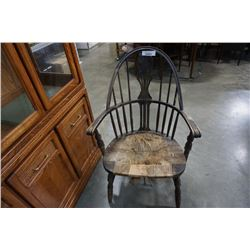 ANTIQUE WOOD FRAMED CHAIR