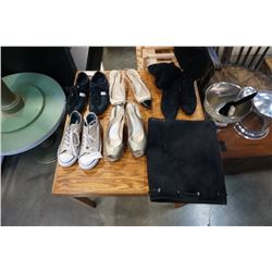 4 PAIR OF DESIGNER LADIES SHOES AND BOOTS