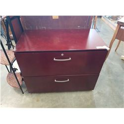 2 DRAWER WOOD LATERAL FILING CABINET 3 FOOT ACROSS