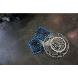 Decorative metal basket, planter, TP holders and hooks