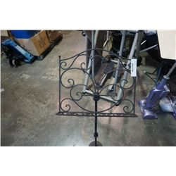 "Decorative metal 46"" music stand"