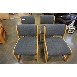 FOUR FAUSTINO UPHOLSTERED CHAIRS