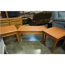3 PIECE COFFEE AND ENDTABLE SET