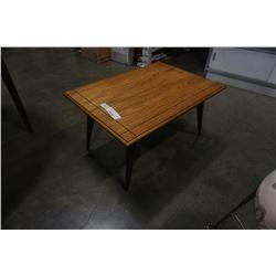 Vintage walnut MCM side table