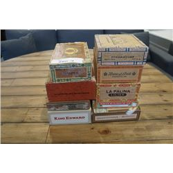 LOT OF VINTAGE CIGAR BOXES
