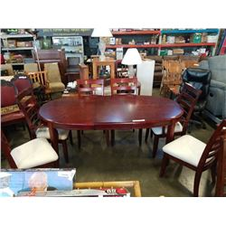 MODERN DINING TABLE WITH LEAF AND 6 CHAIRS