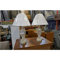 2 PINWHEEL CRYSTAL LAMPS