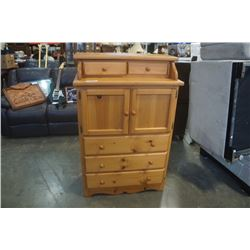PINE HIGHBOY DRESSER WITH GALLERY