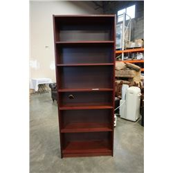 BOOKSHELF - APPROX 80 INCHES TALL