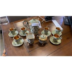 15 PIECE CAPODIMONTE TEA SERVICE SET MADE IN ITALY