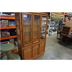 OAK 2 PIECE CHINA CABINET