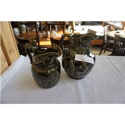 English wood ceramic jugs