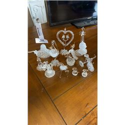 LOT OF BLOWN GLASS PIECES