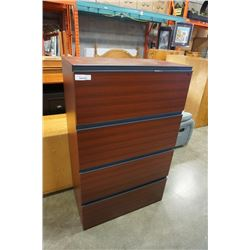 4 DRAWER LATERAL FILING CABINET 57 INCHES TALL
