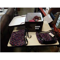 Case of ladies handbags and purses