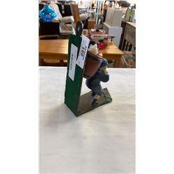 Cast iron door stop figure