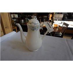 ROYAL ALBERT COFFEE POT FOR ALL SEASONS MORNING GLORY BONE CHINA