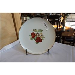 German gold trimmed plate with stand