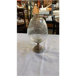 Mounted glass egg