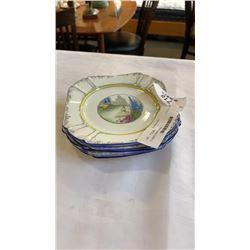 6 english Shelley plates