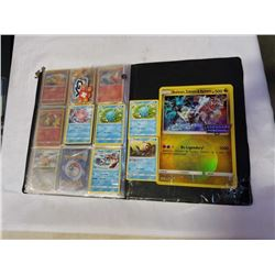 BINDER OF POKEMON CARDS INCLUDING GIANT LEGENDARY CARD