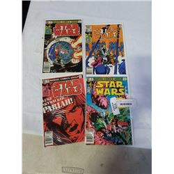 4 MINT 1980S STARWARS COMICS #59, 60, 61, 62