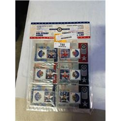 SET OF 6 NHL SERIES 3 2002 STAMP CARDS TIM HORTON, GUY LAFLEUR, HOWIE MOREZ, GLEN HULL, RED KELLY, P