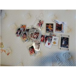 EDDY CURRY, TYRONE LUE ROOKIES AND JORDAN UPPER DECK STICKER CARDS AND HARD CASED MICHAEL JORDAN