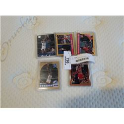 5 MICHAEL JORDAN BASKETBALL CARDS