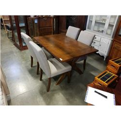 MODERN DINING TABLE WITH 4 UPHOLSTERED CHAIRS