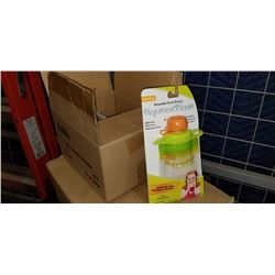CASE OF 24 NEW SQUEEZ EMS REUSABLE FOOD POUCHES RETAIL $11.99 FOR 2 - RETAIL TOTAL $140