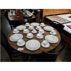 6 PLACE SETTING ROYAL DOULTON ARGENTA CHINA  - 51 PIECES