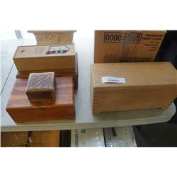 LOT OF VINTAGE WOOD BOXES