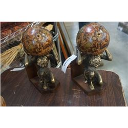 PAIR OF ATLAS BOOKENDS - MADE IN ITALY