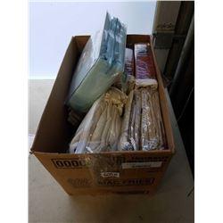 BOX OF SHEET SETS AND CURTAINS